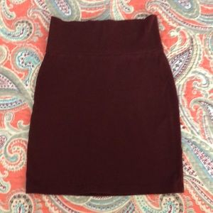 Maroon Knit MINI Skirt